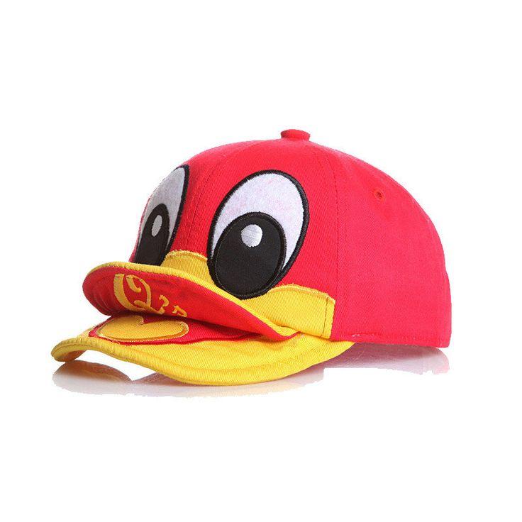Baby Kids Cute Duck Design Baseball Caps Toddler Peaked Beret Hats