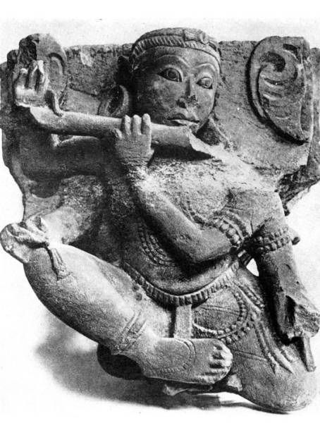 Heavenly musician. Sculpture from the temple in Katyavare. 10 century.