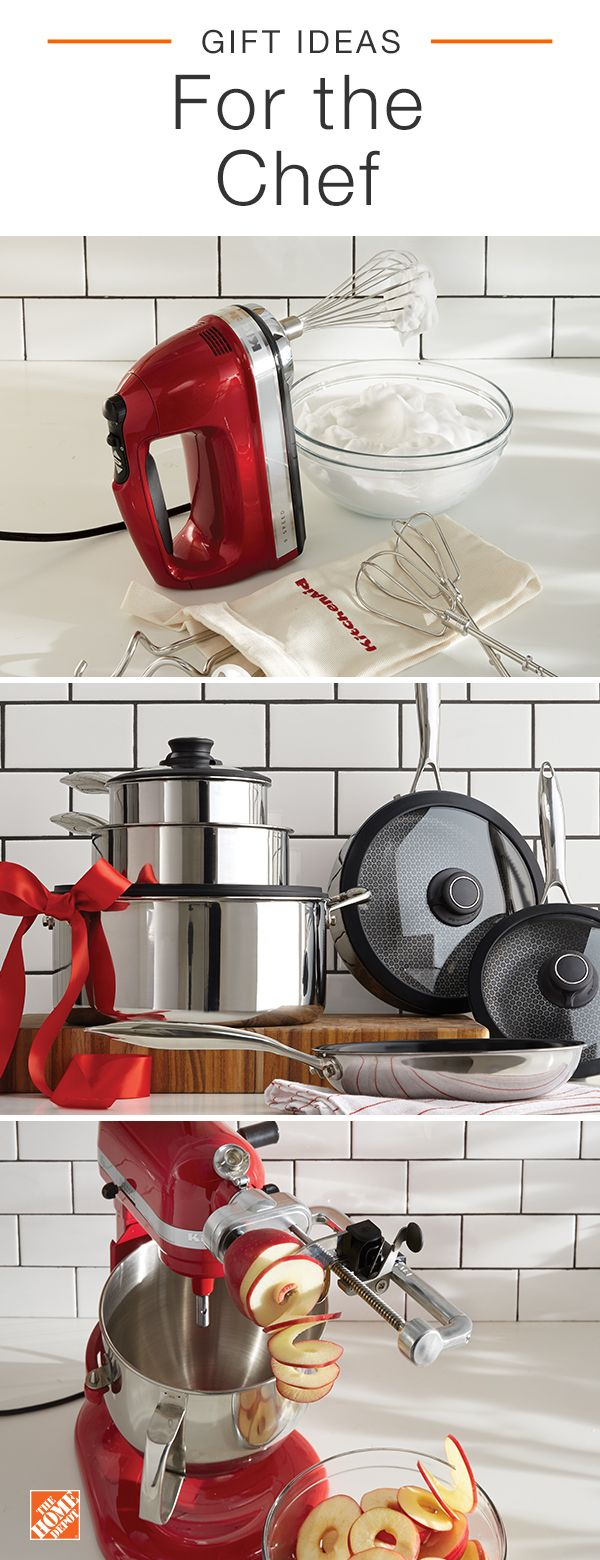 Find the perfect gift for those who love to cook and bake just as much as they love to eat. Explore cookware, bakeware, cutlery, kitchen tools, gadgets and more, all at The Home Depot. Click to discover the perfect gifts for everyone on your list.