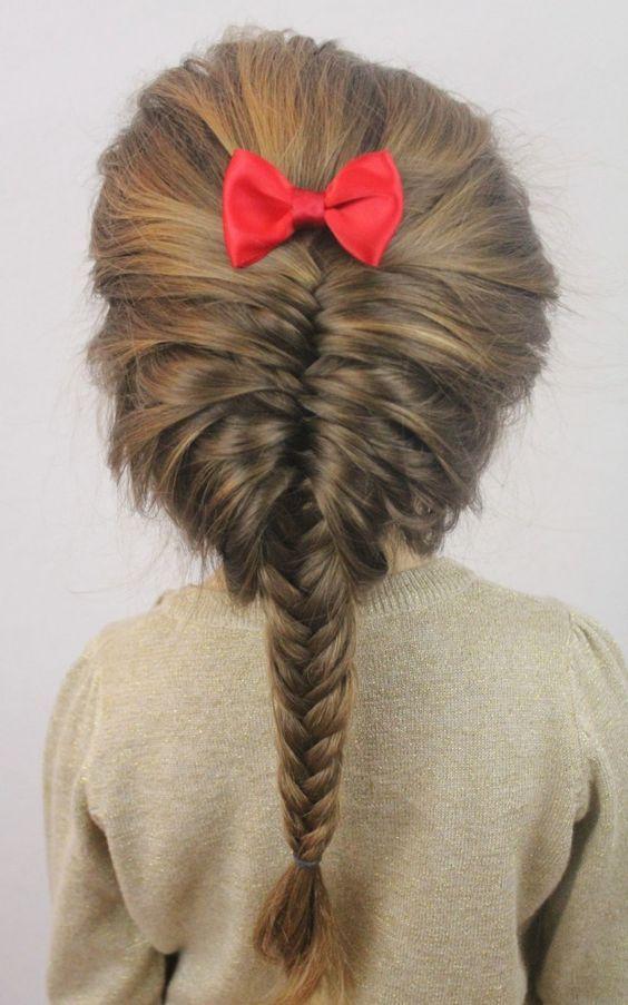 Toddler fishtail braid
