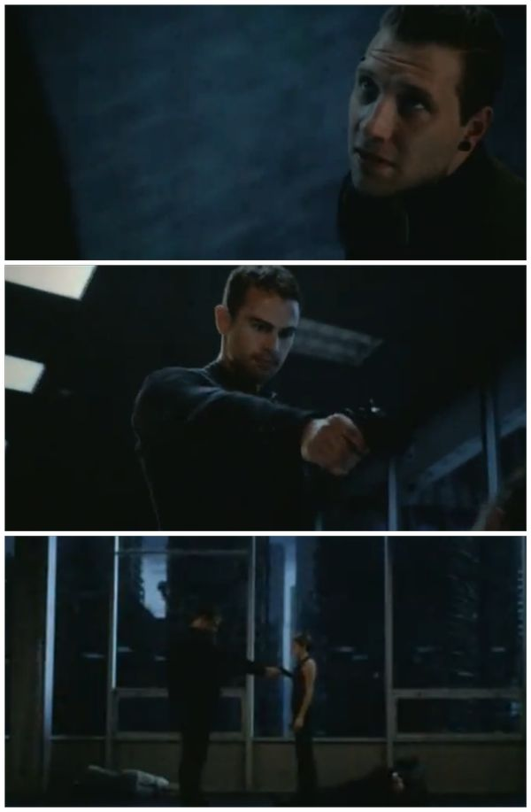 Eric: Please? Four/Tobias: (Sigh.) Fine. I will kill you. [Fist bump!]