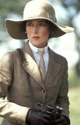 Meryl Streep - Out of Africa (Sydney Pollack, 1985) via Carol Steele & Jean-Christophe I. onto Timeless Style