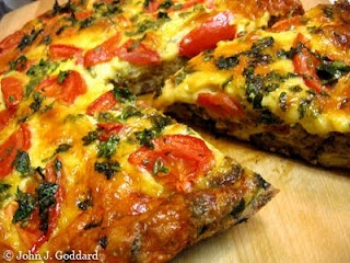Roasted veggie fritatta