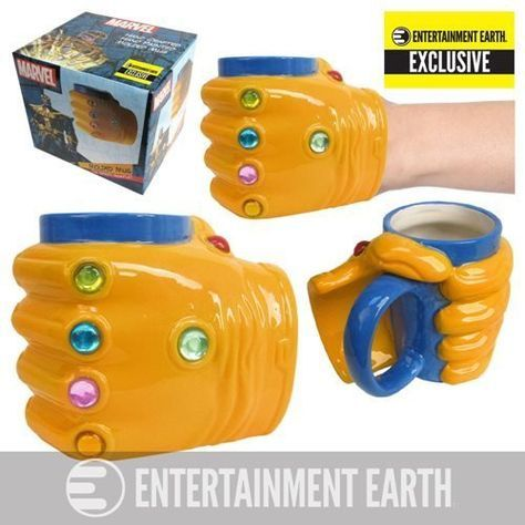 Harness the power of the Infinity Gems! Seize control of your coffee with this exclusive molded mug! You are the Titanian Eternal - Thanos! 16oz Hand Wash Only. Not Dishwasher Safe. Do Not Microwave
