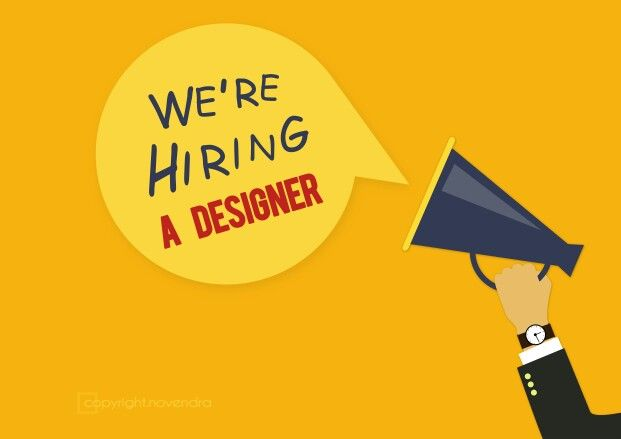 We're Hiring A Designer