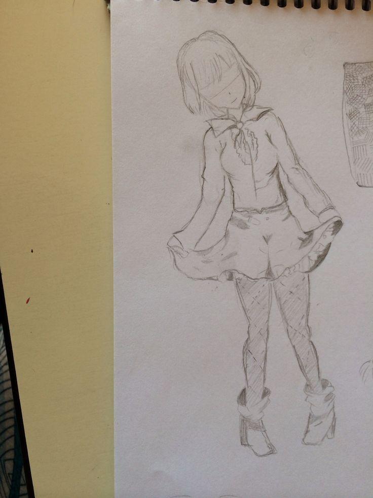 Drawing girl manga