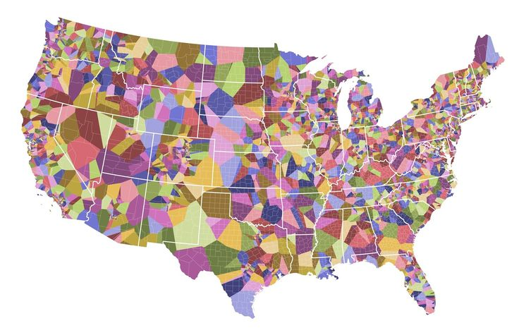 The world's first voronoi beer map - Vivid Maps
