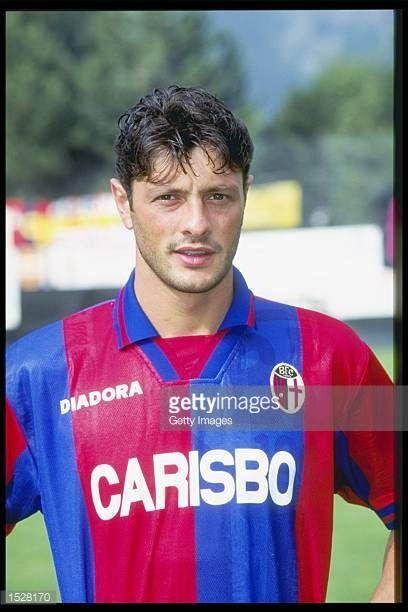 A portrait of Davide Olivares of Bologna taken during the club photocall Mandatory Credit Allsport UK