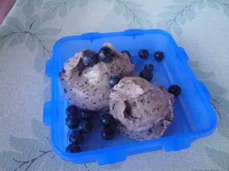 Черничное мороженое для сыроедов