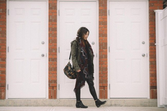 How To Style: Military Jacket & Blanket Scarves - whaddupbecks