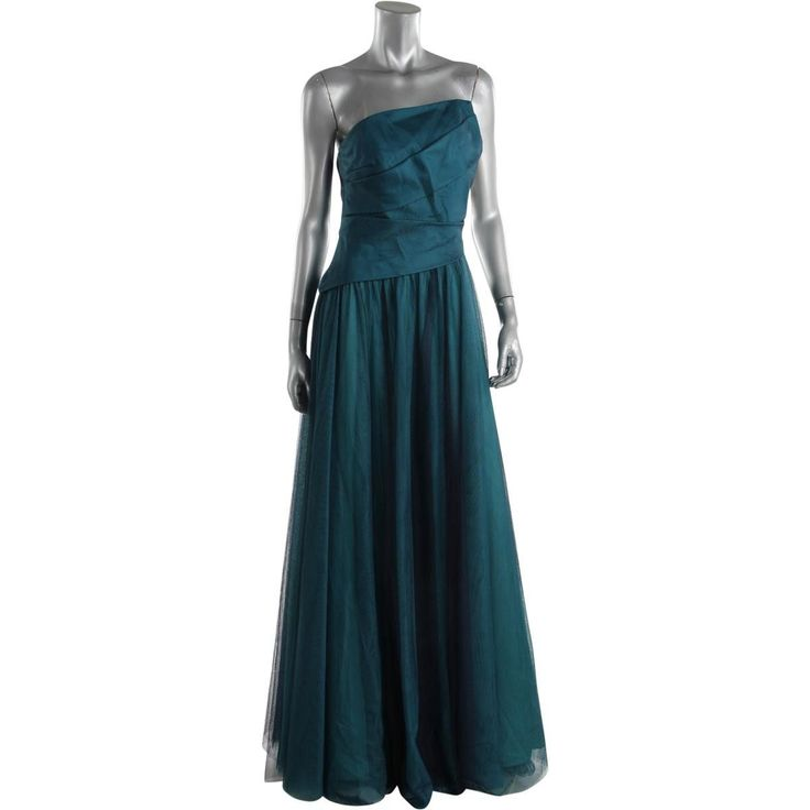 ML Monique Lhuillier Womens Strapless Prom Formal Dress