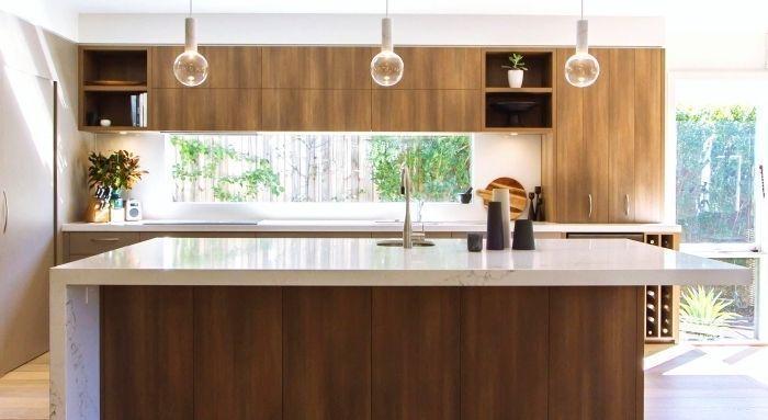 Idée relooking cuisine \u2013 Idée décoration et relooking cuisine - Plan De Cuisine Moderne Avec Ilot Central