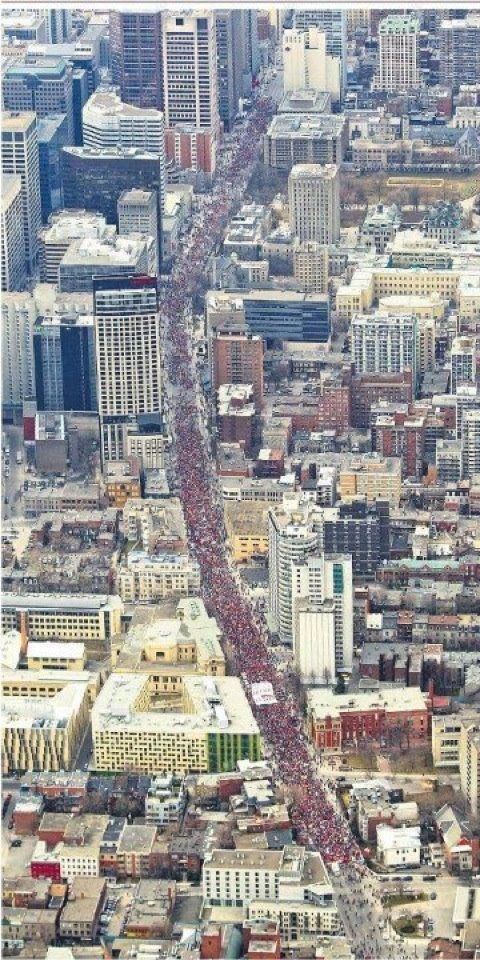 Montreal 22 mai 2012. Plus grosse manifestation au Québec. 300 000 personnes dans les rues. Je m'en souviendrai!!!