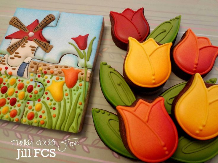 Tulips & cookie puzzle {jill fcs} #flower #cookie