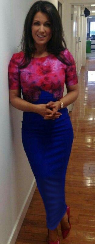 Suzanna Reid wearing a long tube dress
