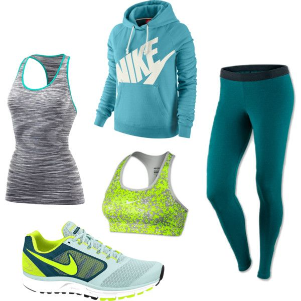 Teal Workout Clothes by Sarah Duncan