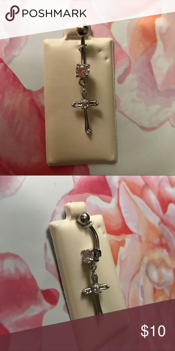 NEW Cross Dangle Belly Ring New never worn! From Piercing Pagoda Piercing Pagoda Jewelry
