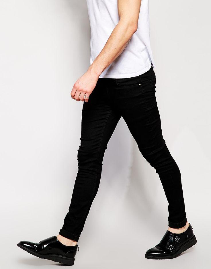 Image 4 of ASOS Extreme Super Skinny Jeans In Black | Male Fashion | Pinterest | Super skinny ...