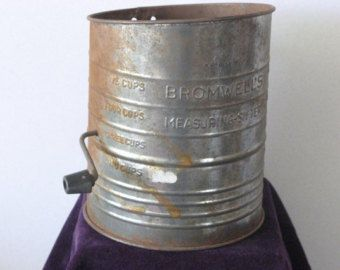 Vintage Bromwell Sifter Set Set of 2 by SouthernGloryGoodsCo