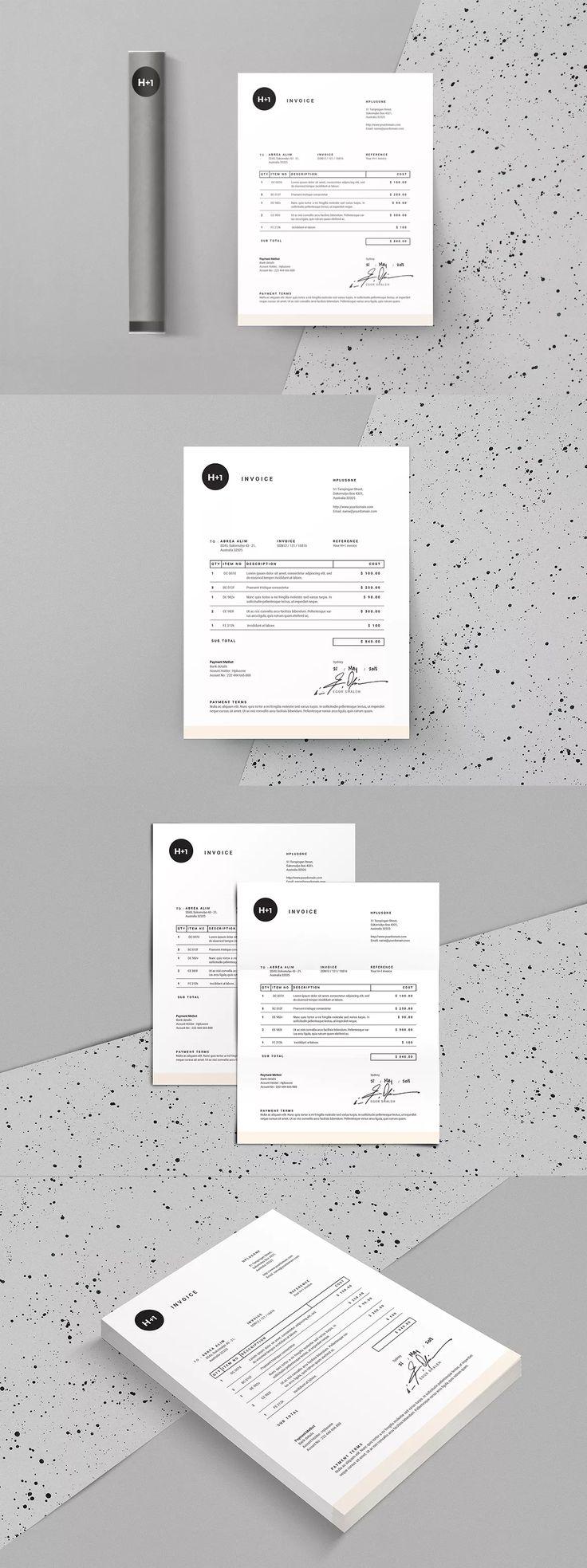 Mejores 34 imágenes de Invoice Templates en Pinterest | Plantilla de ...