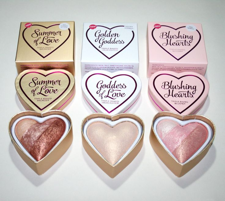 "Makeup Revolution ""I Heart Makeup"" New Shades I just love these the packaging is so eye catching I have Blushing Hearts and I find the product looks good with my fair skin."