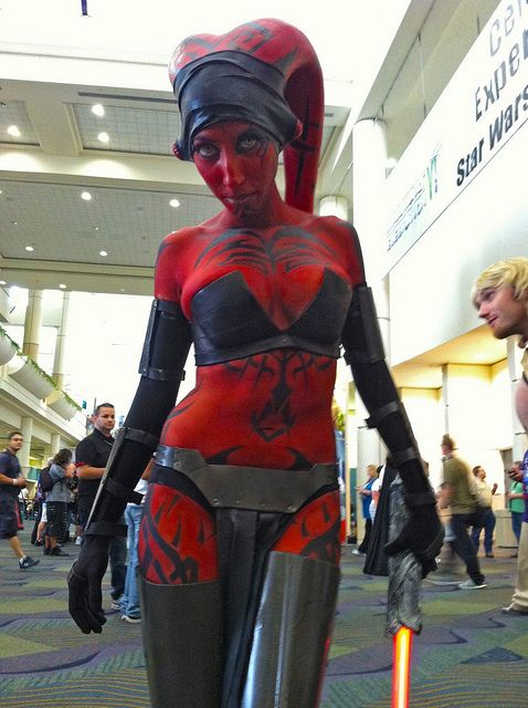Darth Vader Female Body Paint