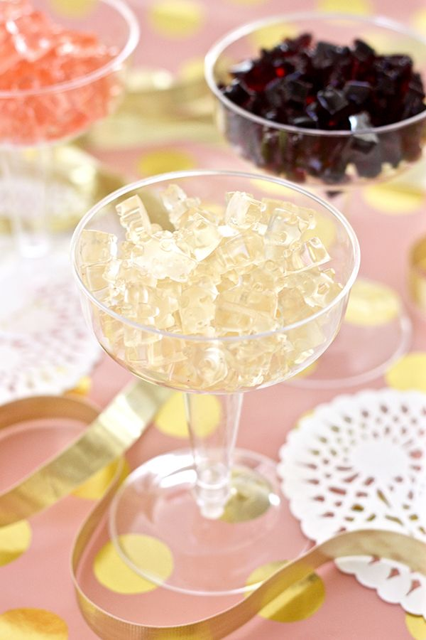 Champagne, Red, and Rosé Wine Gummy Bears