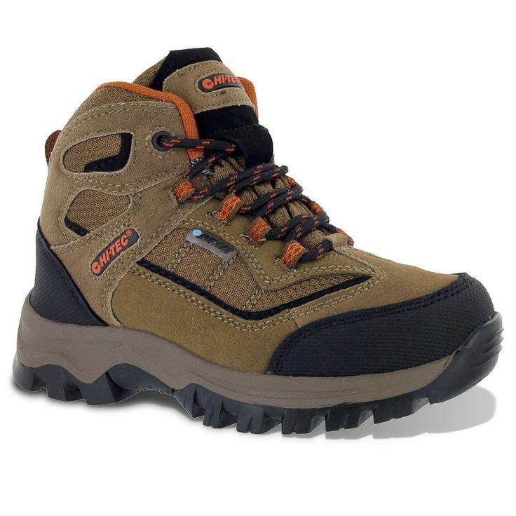 Hi-Tec Hillside Waterproof Jr. Boys' Hiking Boots, Size: 12, Brown