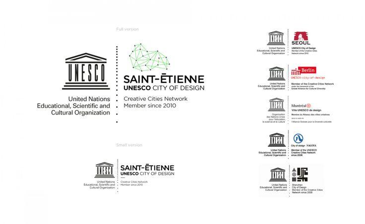 Unesco City of Design Logo Branding Black / green http://www.grapheine.com/divers/brand-design-st-etienne-city-of-design-unesco