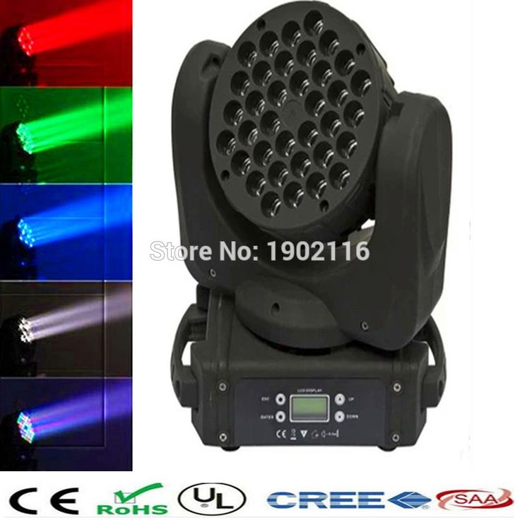 165.00$  Watch here  - Free&Fast shipping  HOT sale RGBW 36X3W LED moving head beam wash DMX stage light disco dj lighting  cheap price factory sale