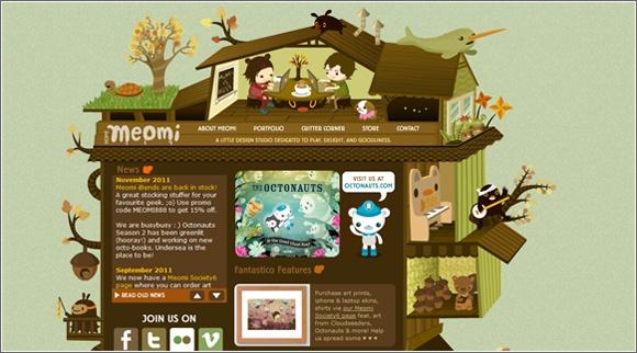 Kawaii web site design: www.meomi.com