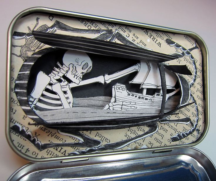 Jim Doran art in an Altoids tin