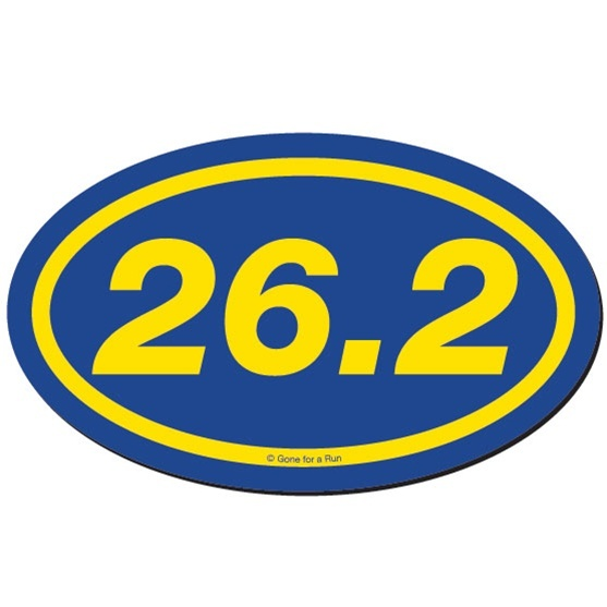 26 2 Marathon Car Magnet Blue 4 99 Marathon Gifts