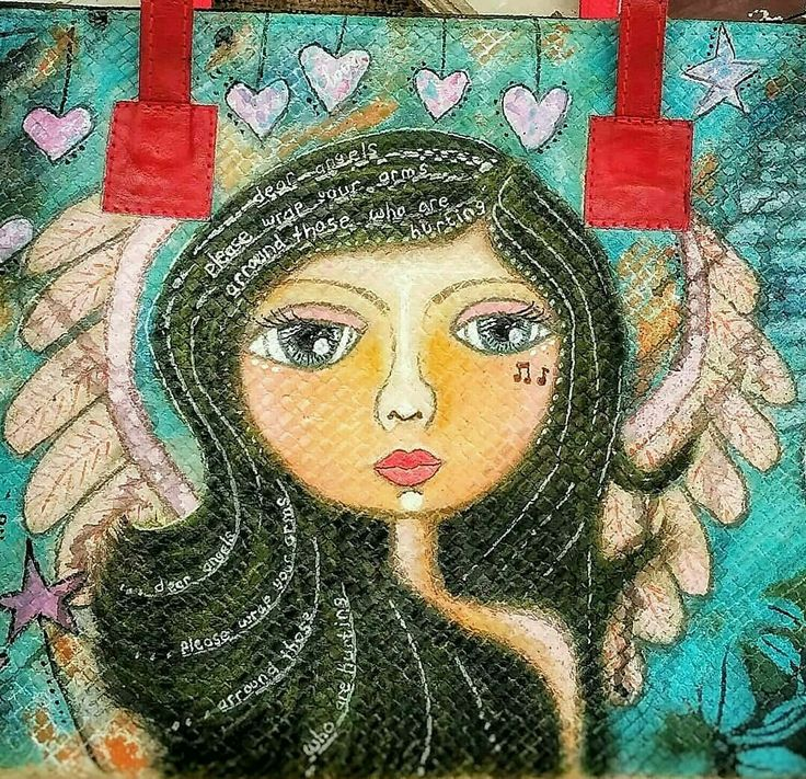 Aku Malaikatmu Mahitala Whimsical painting  @bhumi_mahitala