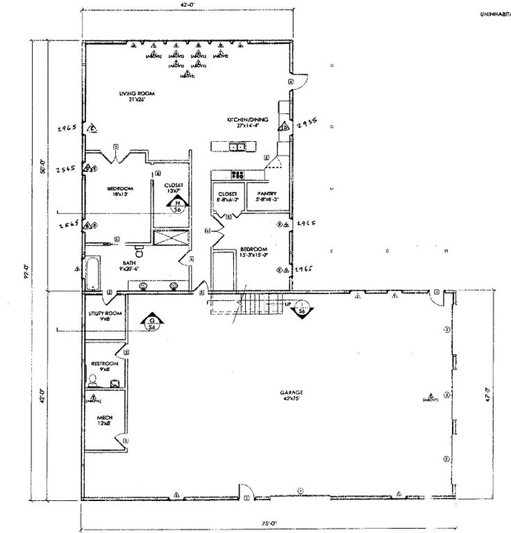 43 best House Plans images – Steel Building House Floor Plans
