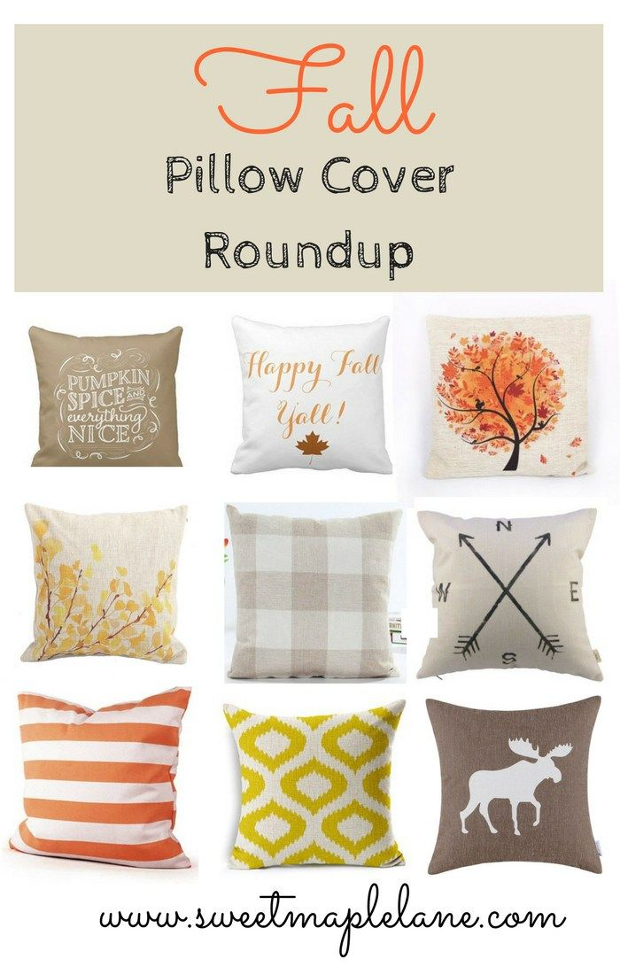 Fall pillow cover roundup from Sweet Maple Lane.