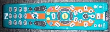 Direct tv makes a Miami Dolphins Remote!! should get and switch it on my dads remote since he is a Packer fan LOL!!!