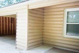 Best 25 vinyl log siding ideas on pinterest for Faux wood vinyl siding