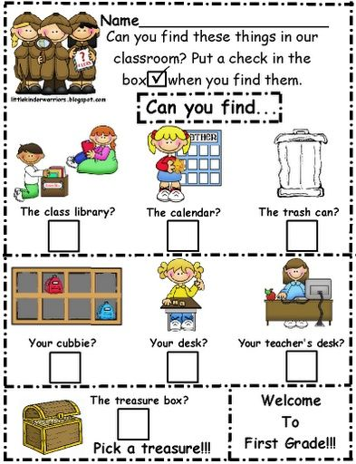 This is definitely an elementary version, but why not make a cute scavenger hunt in the first week to help secondary students remember classroom norms? Just put a different shaped/colored sticker at each location