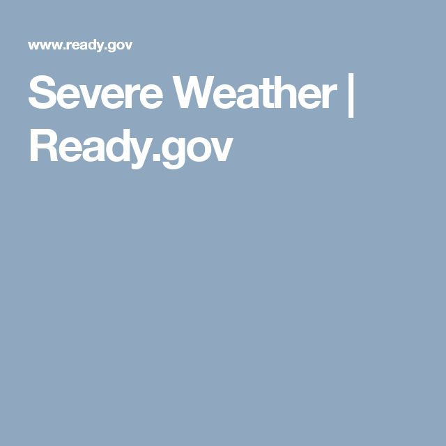 Severe Weather | Ready.gov