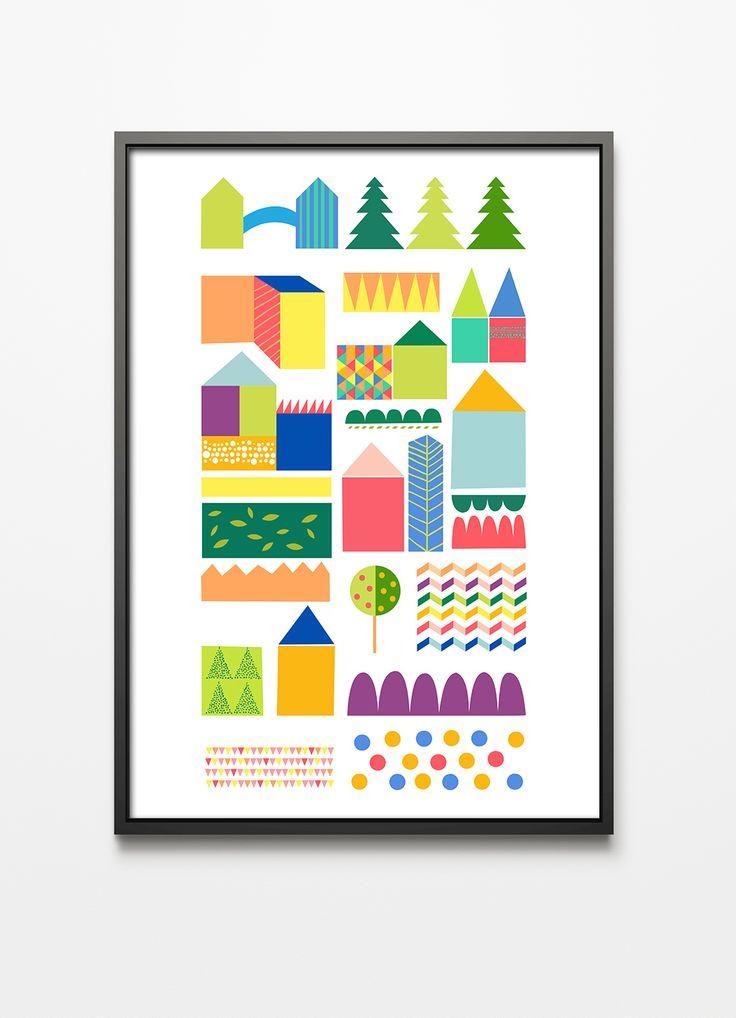 Printlove, illustration by Katarzyna Kucwaj, kids room