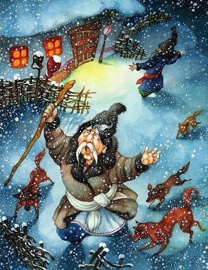 Ночь перед рождеством рисунок