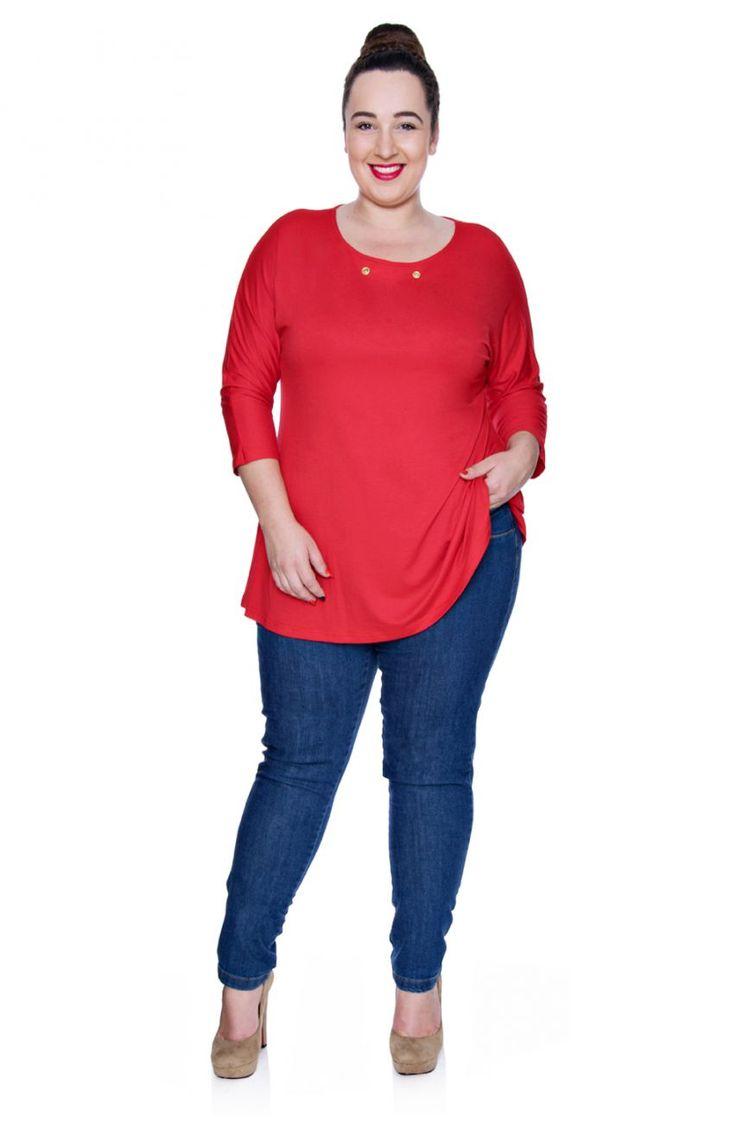 Jeansy z przeszyciami - Modne Duże Rozmiary