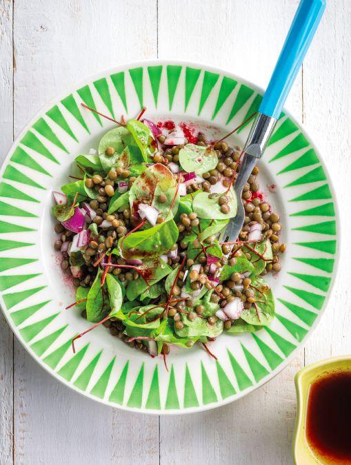 Recept van de week: groenelinzensalade met bessendressing
