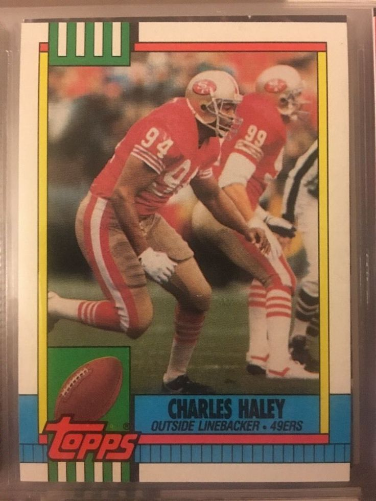 1990 Topps Charles Haley 17 San Francisco 49ers Near Mint Combined s Amp H | eBay
