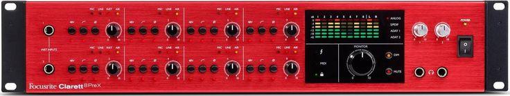 Focusrite Clarett 8PreX, Thunderbolt-äänikortti - St. Paul's Sound verkkokauppa
