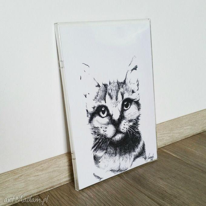 GRAFIKA NA ŚCIANĘ RĘKODZIEŁO RAMKA KOT. $7
