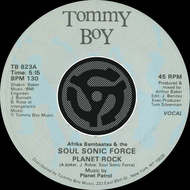 Saved on Spotify: Planet Rock by Afrika Bambaataa Soul Sonic Force