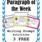 """Get 3 FREE weeks of my """"Paragraph of the Week"""" writing resource!!!  This FREE resource was created to support the English Language Arts Common Core..."""