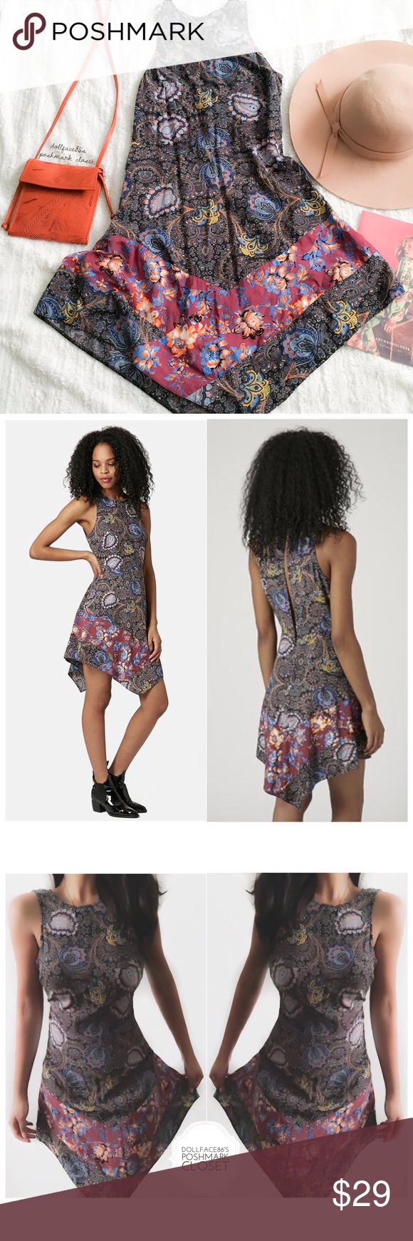 """Topshop Paisley Boho Dress ✦   ✦{I am not a professional photographer, actual color of item may vary ➾slightly from pics}  ❥chest:16"""" ❥waist:14"""" ❥length:31.5""""/38"""" ❥hips:23"""" ➳material/care:viscose/machine wash ➳fit:in my opinion closer to 4 ➳condition:gently used  ✦20% off bundles of 3/more items ✦No Trades  ✦NO HOLDS ✦No lowball offers/sales are final  ✦‼️BE A RESPONSIBLE BUYER PLS ASK QUESTIONS/USE MEASUREMENTS TO MAKE SURE THIS WILL WORK FOR {YOU} BEFORE PURCHASING ‼️ Topshop Dresses"""